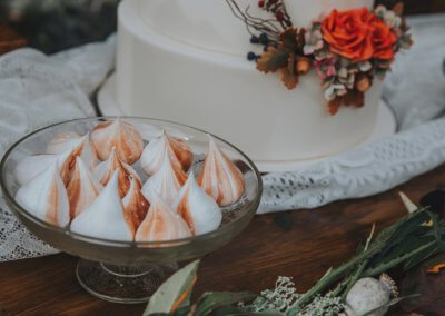 caramel merinues autumn wedding