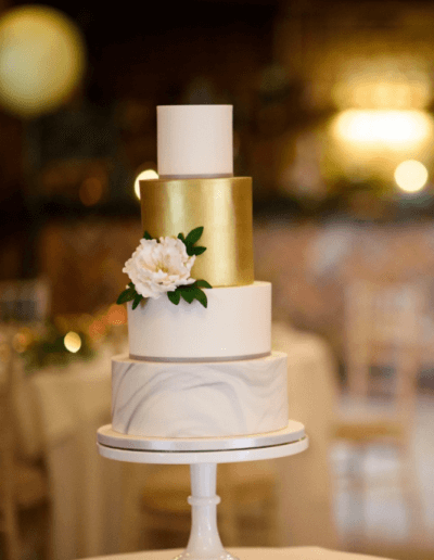 marble gold grey wedding cake
