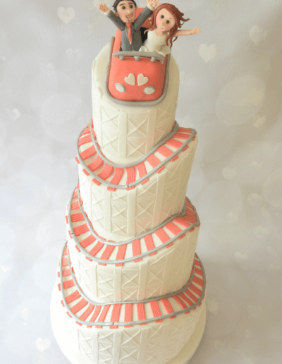 rollercoaster wedding cake