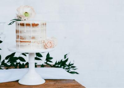 Lemon drizzle drip cake sugarcraft Icelandic poppy blush pink roses