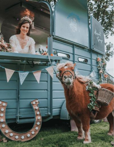 Norfolk wedding pony and horse box bar