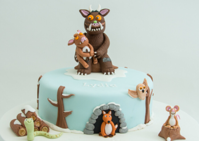 Gruffalos child christening cake